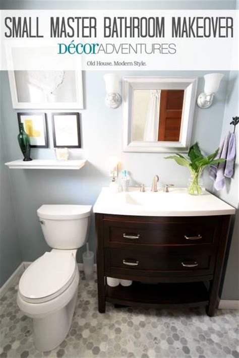 Small Bathrooms Makeover by Small Master Bathroom Makeover 187 Decor Adventures