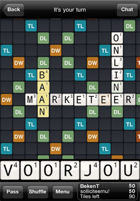 wordfeud scrabble scrabbelen op je iphone met wordfeud apps iphoned nl