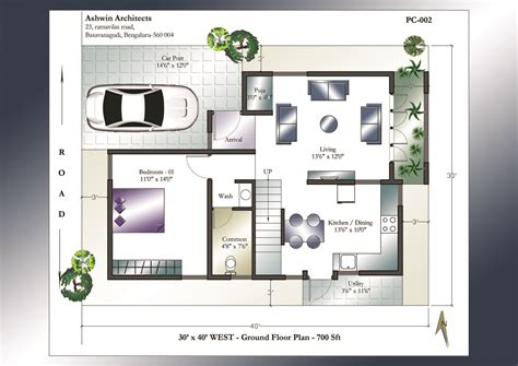 west facing house vastu floor plans 30 x 40 house plans 30 x 40 west facing house plans