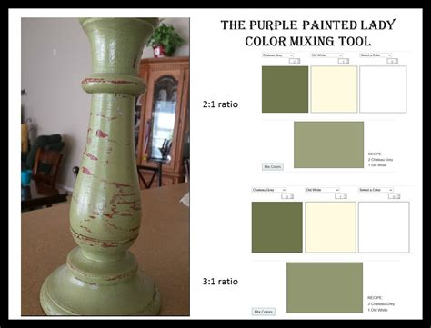 chalk paint mixed colors recipe the purple painted