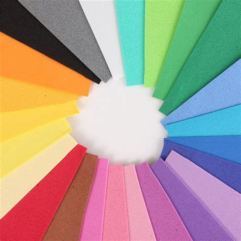 thick craft paper 24pcs lot thick multicolor sponge foam paper fold