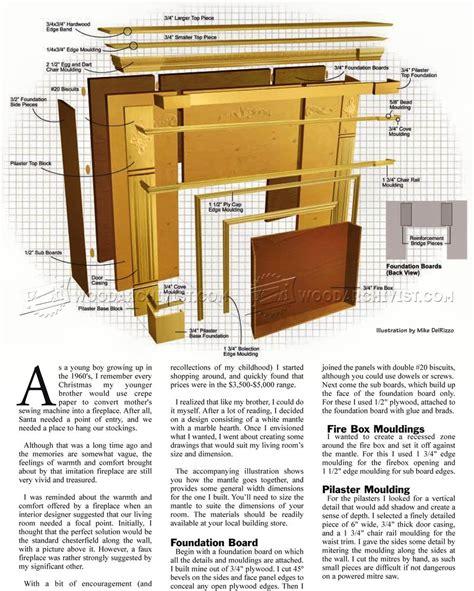 fireplace mantel woodworking plans faux fireplace mantle plans woodarchivist