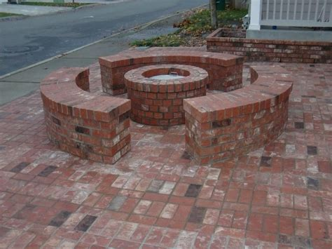 brick patio designs with pit types of brick patio designs to make your garden more