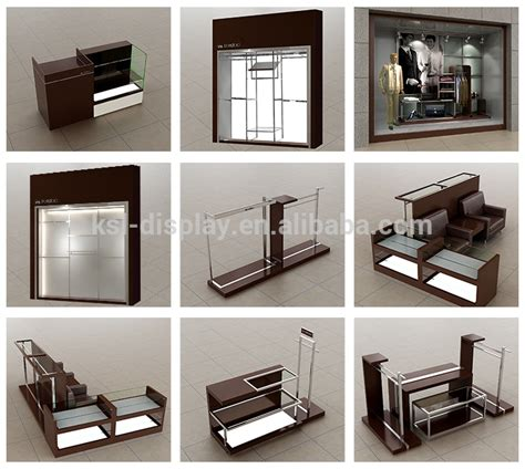 Diy Clothing Storage modern shop counter design wood nesting tables display for