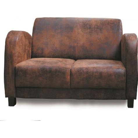canape deux places microfibre vieux cuir