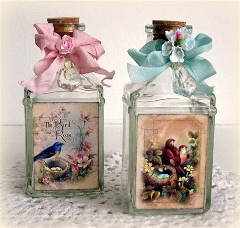 decoupage project ideas creating from the decoupage on glass crafty