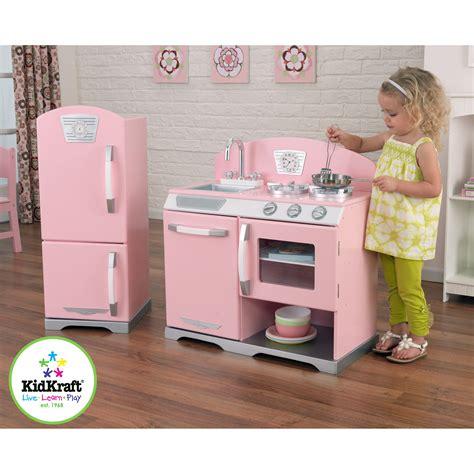 kid craft vintage kitchen kidkraft 2 pink retro kitchen and refrigerator