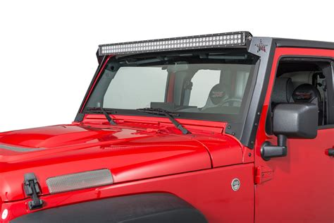 jk led light bar rock slide ac ws 100 50 quot led light bar mount for 07 17