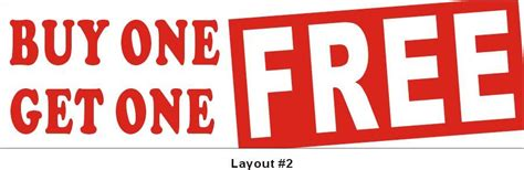 one free 3ftx10ft buy one get one free buy 1 get 1 free banner