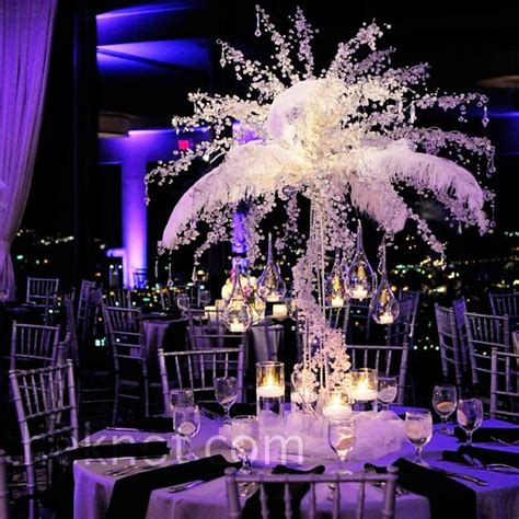 feathers for centerpieces feather centerpieces