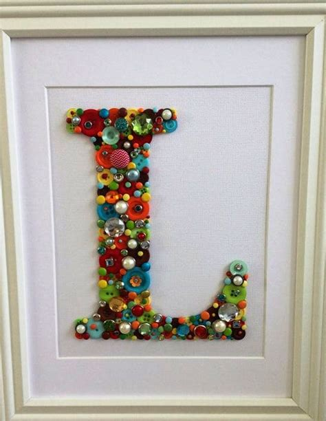craft projects with alphabet button craft ideas creative and craft ideas