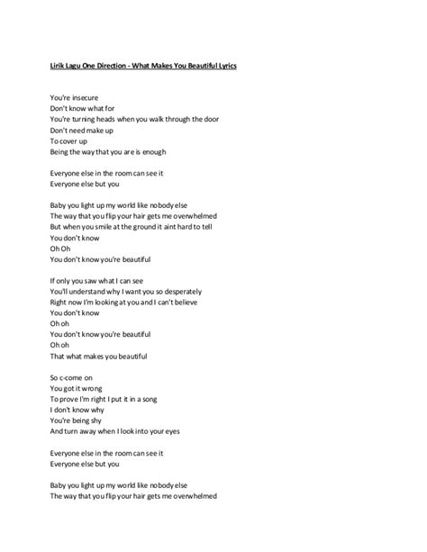 lirik lagu lirik lagu one direction