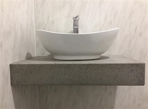 Concrete Vanity Top by Polished Concrete Vanities Bowls And Shower Panels