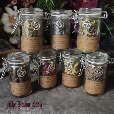 pagan craft projects flip top herbs jars sacred herbs wiccan herb jars by