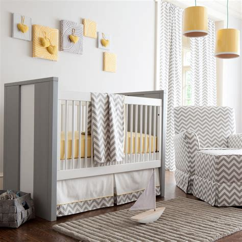 crib bedding grey and yellow gray and yellow zig zag crib bedding bold chevron crib