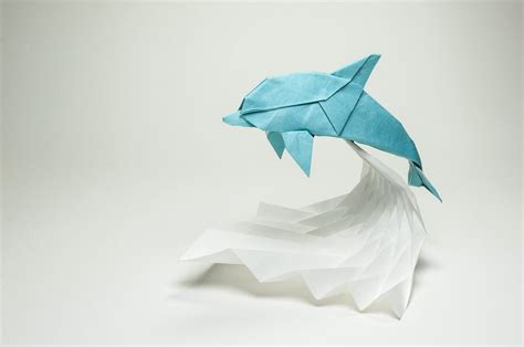 origami dolphin this week in origami black friday edition