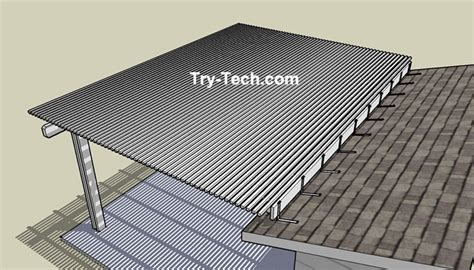 attaching pergola to roof 1000 images about faux wood patio cover on
