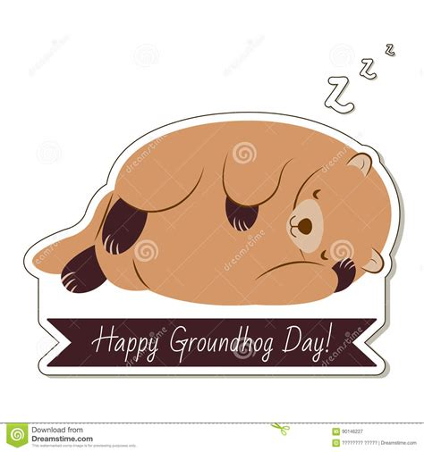 groundhog day duration happy groundhog day typography and design with