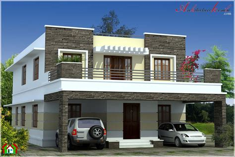 Where To Get House Blueprints simple contemporary style kerala house elevation