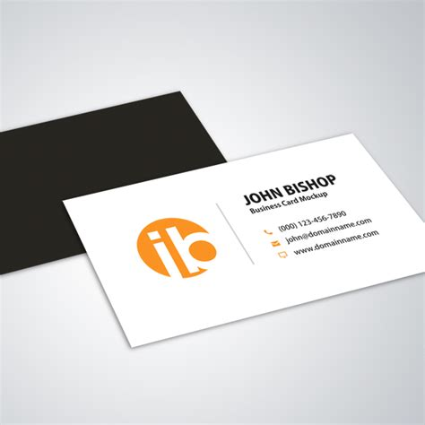 how to make a simple business card modern simple business card mockup design vector