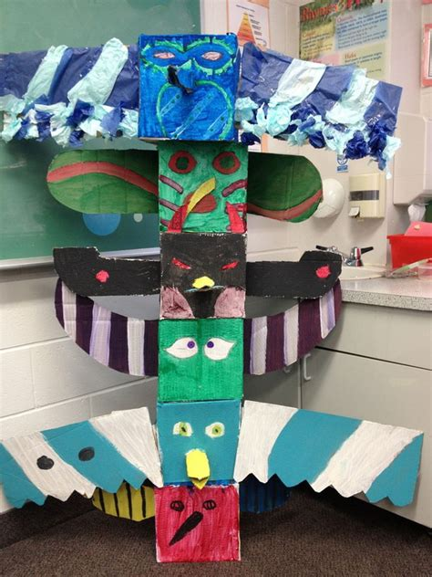totem pole craft project cool totem pole craft projects for