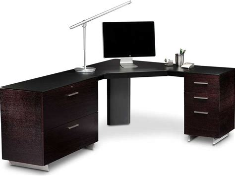 computer desk drawer bdi sequel 43 black corner computer desk with keyboard