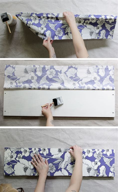 how to decoupage with fabric how to decoupage fabric onto shelves mod podge rocks