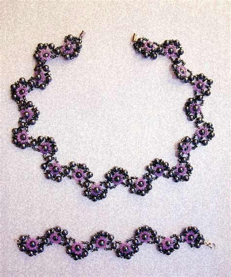 patterns for jewelry free pattern for necklace and bracelet charlize magic
