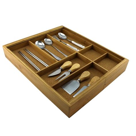 woodworking with bamboo homex bamboo cutlery holder with cork wood homex