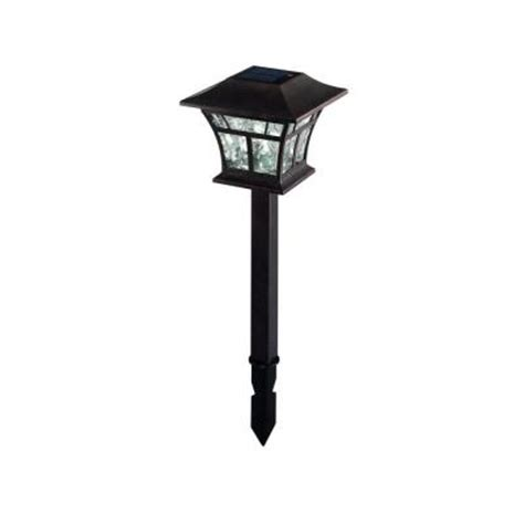 solar outdoor lights home depot outdoor copper solar led landscaping lights 4 pack