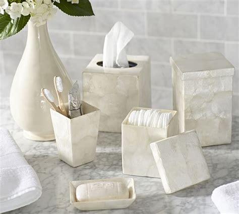pottery bathroom accessories capiz bath accessories pottery barn