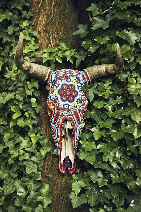 beaded cow skull diy beaded skull inspiration do it yourself projects