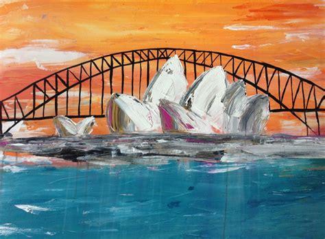 acrylic paint sydney original sydney opera house painting acrylic on canvas