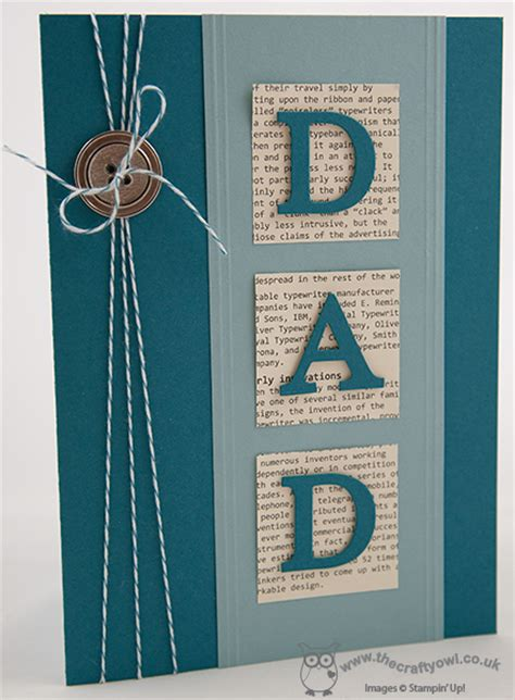 fathers day card to make the crafty owl s day card