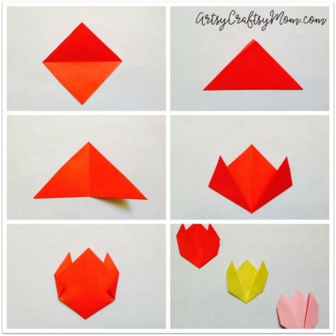 origami tulip easy easy origami tulip craft for easy origami origami
