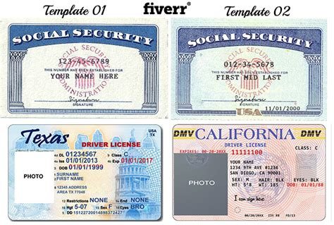make social security card make novelty social security card driver license or