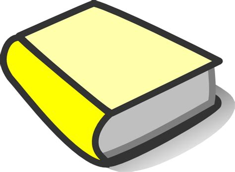 clipart pictures of books yellow book reading clip at clker vector clip