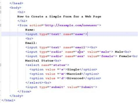 how to make a page how to create web pages using html how to create a