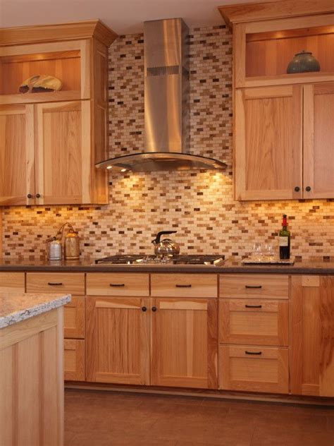 paint colors for kitchen with hickory cabinets hickory cabinets two different color color counter tops