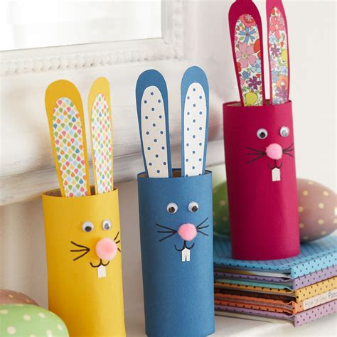 toilet roll craft ideas for make a bunny with toilet roll