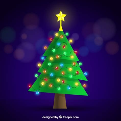 luces navidad arbol 225 rbol de navidad plano con decoraci 243 n de luces de colores