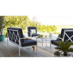 allen roth cape cottage aluminum ottoman home patio allen roth set of 4 park white sling seat aluminum