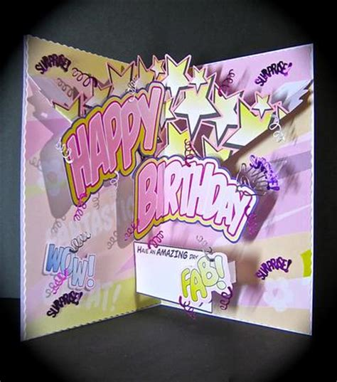 how to make a cool pop up birthday card birthday comic style pop up cup392902 1532