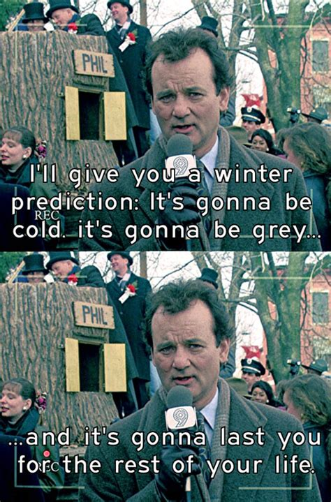groundhog day quotes bill murray the weather right now the meta picture