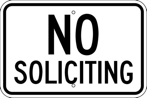 free no 9 best images of no soliciting printable signs no