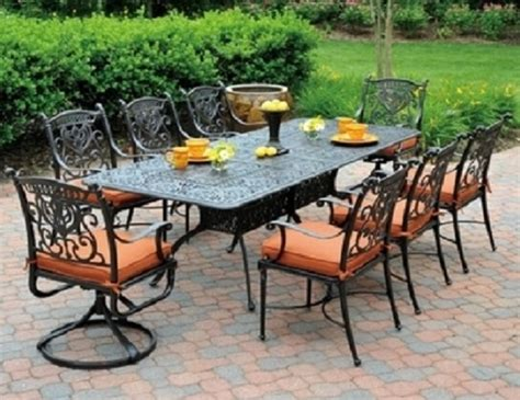 cast aluminum patio furniture sets grand tuscany 8 seat luxury cast aluminum dining set by