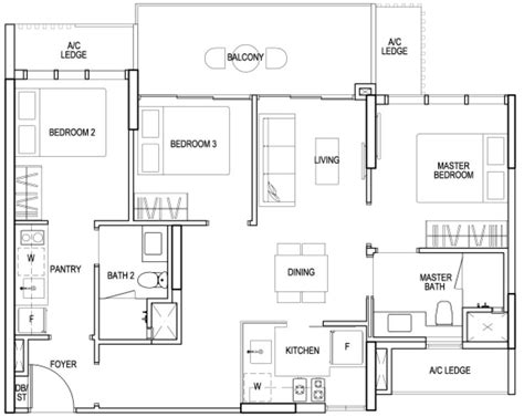 sims floor plans sims oasis showflat 3 bedroom dual key floor