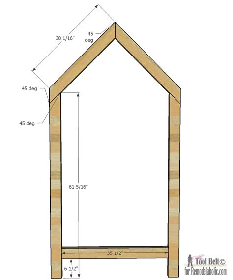 woodworking picture frame plans remodelaholic house frame bed building plan