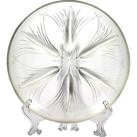 large chagne glass centerpiece heisey verlys glass tassels bowl frosted