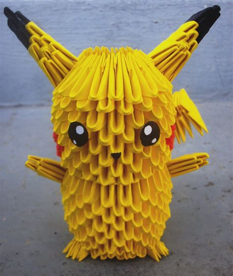 how to make a 3d origami pikachu 25 pikachu 3d origami by sophieekard on deviantart